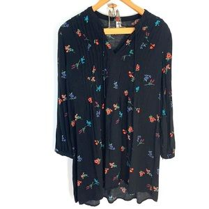 Old Navy floral black tunic
